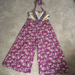 NWOT halter style palazzo pant romper
